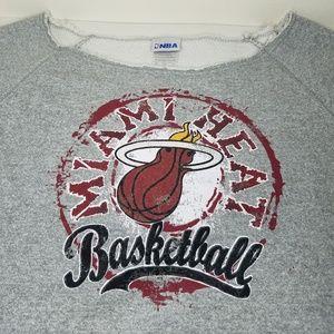 Miami Heat NBA Long Sleeve Gray Sweatshirt